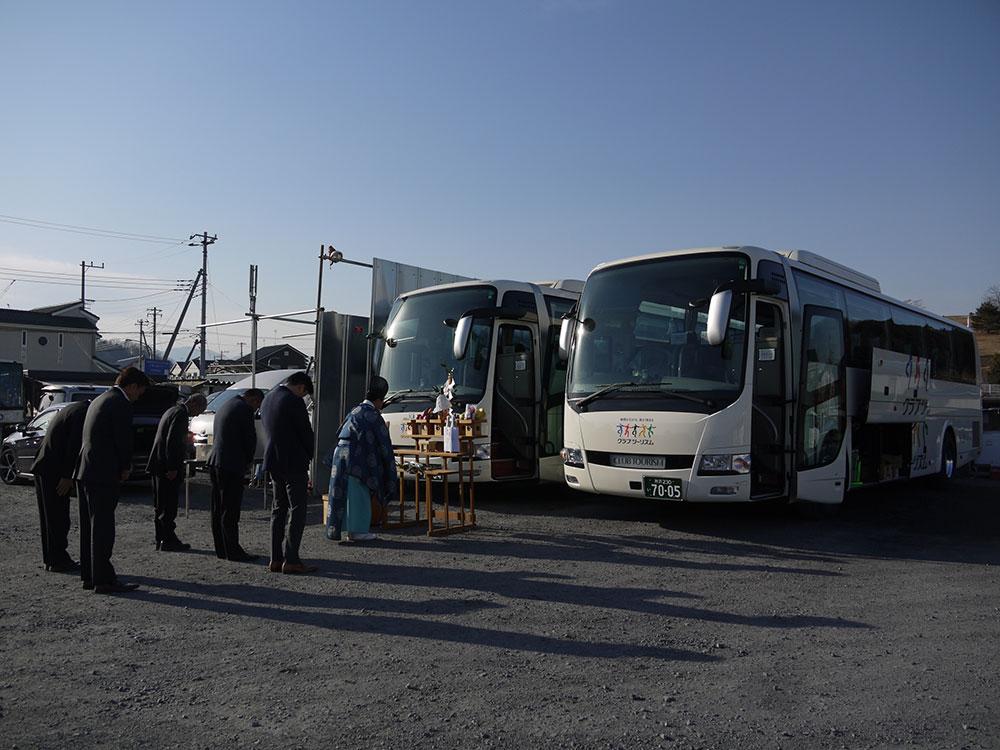 美杉観光バス新車導入の画像