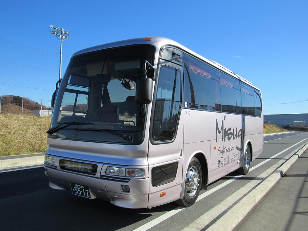 飯能市 観光バス 美杉観光バス 東京沖縄バス 中型28人乗り トイレサロンバスの画像