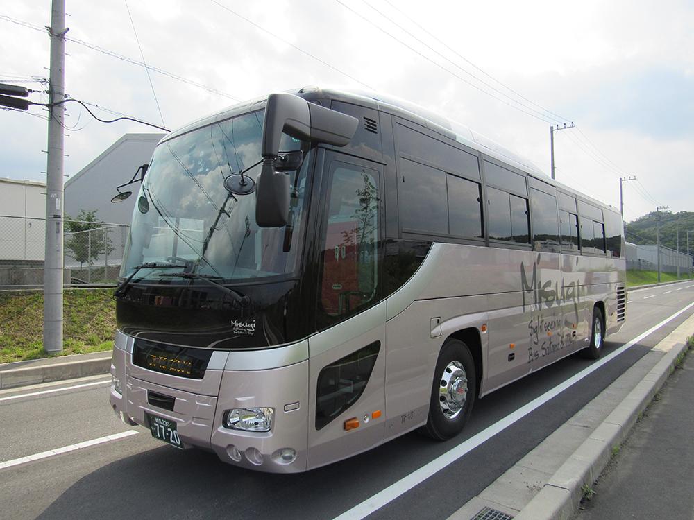 飯能市 観光バス 美杉観光バス 東京沖縄バス 大型54人乗りトイレ付きバスの画像