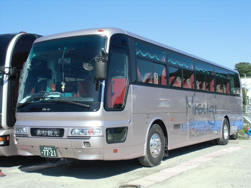 飯能市 観光バス 美杉観光バス 東京沖縄バス 大型55人乗り トイレ付きバスの画像